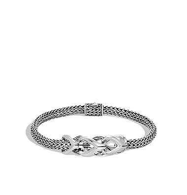 5e610fb430c2fd Amazon.com: John Hardy Women's Asli Classic Chain Link Silver Extra-Small  Bracelet 5mm with Pusher Clasp, Size M - BB90240XM: Jewelry