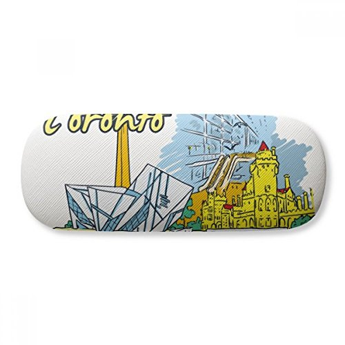 Canada Flavor Toronto Scenery Landmark Glasses Case Eyeglasses Clam Shell Holder Storage ()