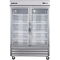 DUURA DVRG2 Glass Door Reach-In Refrigeration, Stainless Steel
