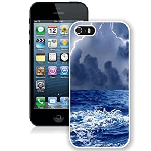 NEW Custom Designed For SamSung Galaxy S6 Case Cover Phone Case With Thunderstorm At Sea_White Phone Case