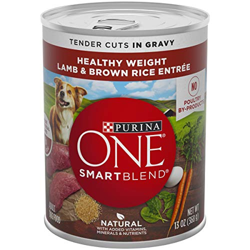 Purina ONE Weight Management, Natural Wet Dog Food; SmartBlend Healthy Weight Tender Cuts Lamb & Brown Rice - (12) 13 oz. Cans - 17800143127 (Best Gravy For Lamb)