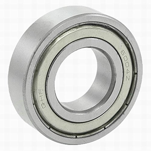 Houseuse 6004Z Electric Motor Double Metal Shielded 20 x 42 x 12mm Metric Ball Bearing, 1.65