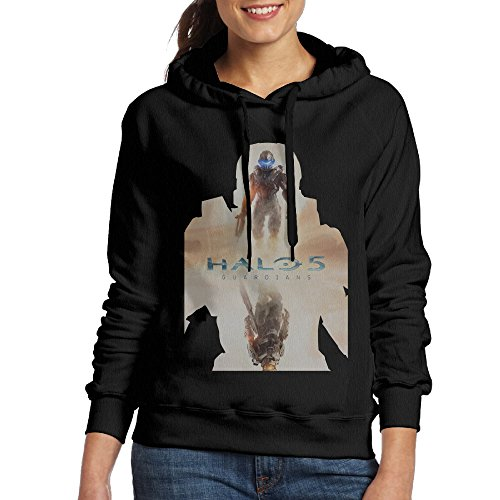 Curcy HALO MASTER CHIEF Hoodie Hoodies WomenHikingSize L Black (Halo Master Chief Collectors Edition)