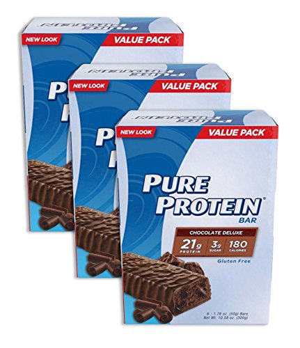 Pure Protein Bar Chocolate Deluxe 6 Bars (3 Pack) Pure-mh -