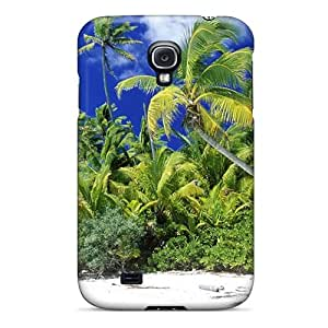 Angelerson Fashion Protective Beach World Islands Palm Trees Case Cover For Galaxy S4