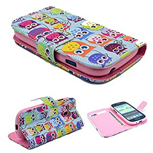 Highsound Nice Pink Silicone Mobile Phone Leather Case With Colorful Cute OWLs For Samsung Galaxy S3 GT-i8190