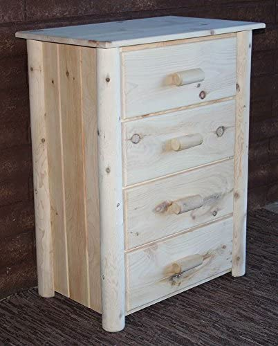 Lakeland Mills Frontier Chest w 4 Drawers, Unfinished