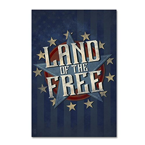 Patriotic 1 by Lantern Press, 30x47-Inch Canvas Wall Art