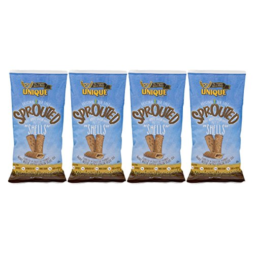 Whole Wheat Shells - Unique Sprouted Whole Grain Pretzel Shells (Pack of four- 8 ounce bags)