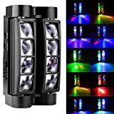 FidgetGear 8X10W LED Spider Moving Head Light RGBW Stage Lighting DMX Disco DJ Party Light