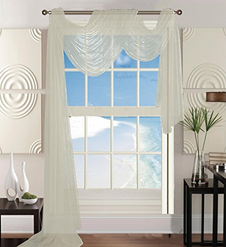(Elegant Comfort Beautiful Window Panel Curtain Sheer Voile Scarf 55