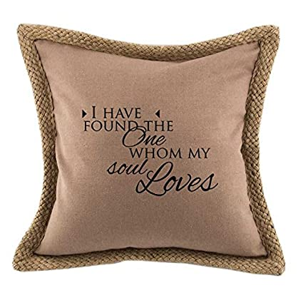 Amazon I Have Found The One Whom My Soul Loves Bed Home Decor Unique Jute Pillow Cover With Braided Trim