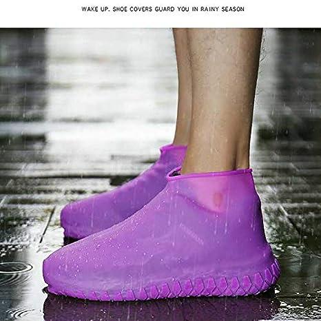 Home//Carpet//reusable//Outdoor//Walking//Boot -Reusable Non Slip Grip -Durable LESOVI Shoe Covers Silicone Waterproof Waterproof Shoe Covers Yellow, L Men//Women Covers for Shoes