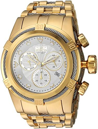 Invicta Men s Bolt Quartz Watch with Stainless-Steel Strap, Two Tone, 34 Model 23914