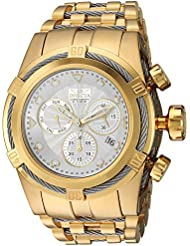 Invicta Mens Bolt Quartz Gold and Stainless Steel Casual Watch, Color:Two Tone (Model: 23914)