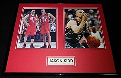 197518400601 Signed Jason Kidd Photo - Framed 16x20 Display AW Cal - Autographed NBA  Photos