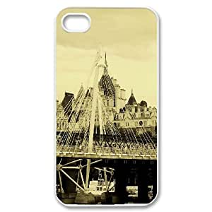 Tower Bridge London 3 IPhone 4/4s Case, Iphone 4 Cases for Girls Cheap Cute Design Evekiss - White