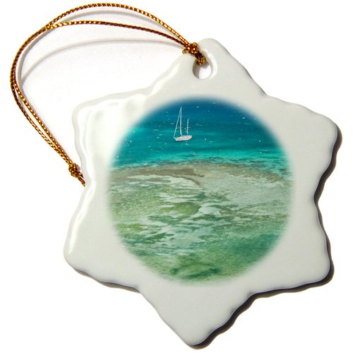 Danita Delimont - Lighthouses - New Caledonia, Amedee Islet Lighthouse, Pacific - OC09 WBI0013 - Walter Bibikow - Ornaments - 3 inch Snowflake Porcelain Ornament (orn_84936_1)
