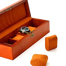 MEDOOSKY Wood Watch Box in Retro Style, Can Be Used As Jewelry Case Organizer, For Men or Women
