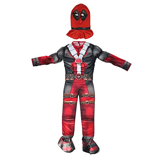 YUW Deadpool Cosplay para niños Niño Disfraz de Navidad de ...