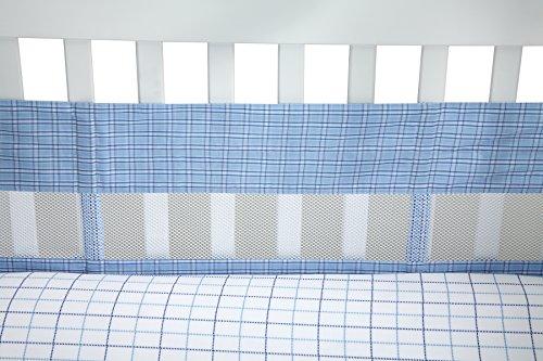 (Nautica William Secure-Me Crib Liner, Multi-Colored)