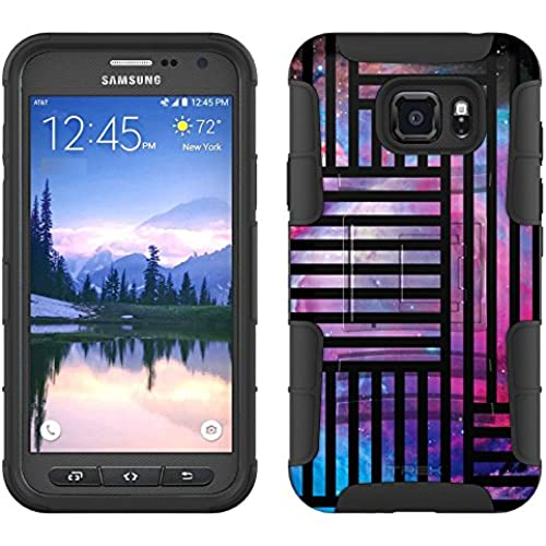 Samsung Galaxy S7 Active Armor Hybrid Case Nebula Galaxy Lines 2 Piece Case with Holster for Samsung Galaxy S7 Sales