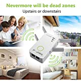 WiFi Range Extender, P-JING Signal Booster Wireless Repeater 2.4GHz 5GHz Dual Band Up to 1200 Mbps - Internet WiFi Amplifier Work for Home House 360 Degree Full Coverage