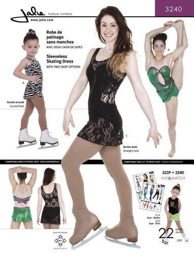 Skating Patterns Skirt (Jalie Sleeveless Skating Dress Dance Gymnastics Costume Sewing Pattern 3240)