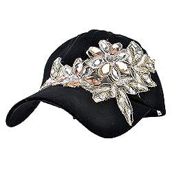 Lace Flower Bling Rhinestone Hat