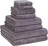 Luxury Extra Large 8-Piece Turkish Towel Set with 4