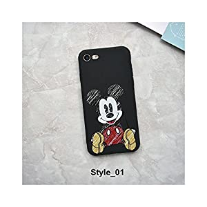 Cute Cartoon Mickey Minnie Mouse Strike Glass Cover Soft TPU Silicone Case for iPhone Case Cover for I Phone XR (I Phone…