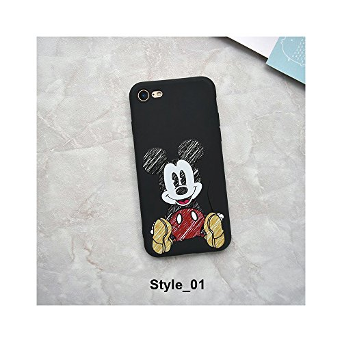 Minnie Mouse Strike Glass Cover Soft TPU Silicone Case for iPhone Case Cover for I Phone X (I Phone X/Style_01) ()