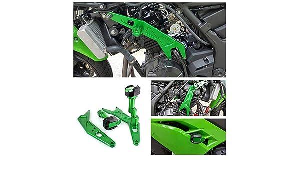 Accreate Frame Sliders Crash Protector for 13-17 Kawasaki NINJA250//300 Z250 Z300 Red