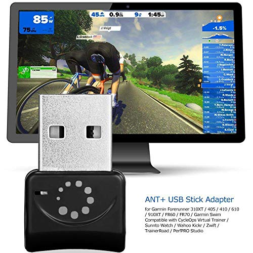 Onlyesh Zwift ANT+ USB Transmitter Receiver Stick Adapter For ANT+ Portable Carry USB Stick For Garmin Forerunner 310XT 405