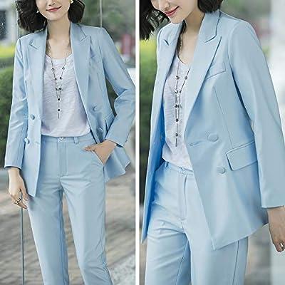LISUEYNE Women's Two Pieces Blazer Office Lady Suit Set Work Blazer Jacket and Pant: Clothing