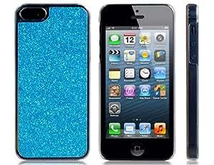 Glitter Skinning caja de plástico para el iPhone 5 (azul)