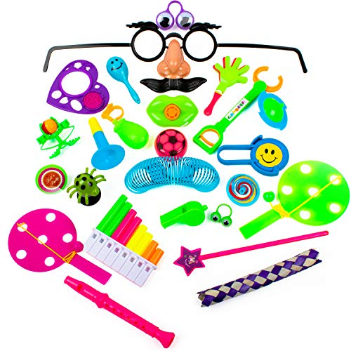 (Party Favors for Kids Goodie Bags - 120pc Party Supplies Small Bulk Toys for Birthday Pinata Fillers, Classroom Treasure Box Prizes and Carnival Games)