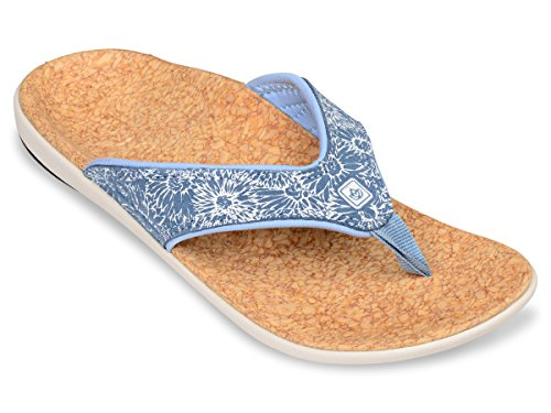 Daisy Womens Sandals (Spenco Yumi Daisy Womens Daisy Sandals Ocean Blue - 9)