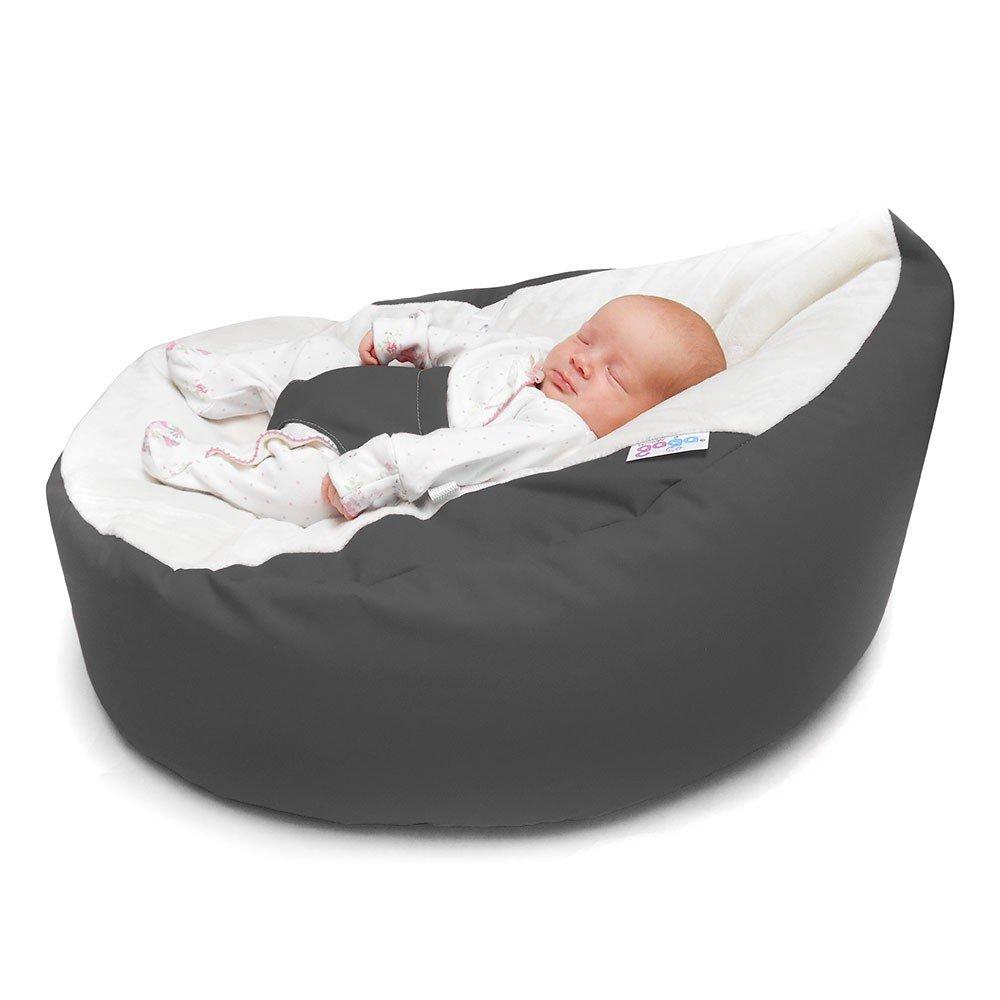 Rucomfy Luxury Cuddle Soft Gaga Baby Bean Bag (Grey)