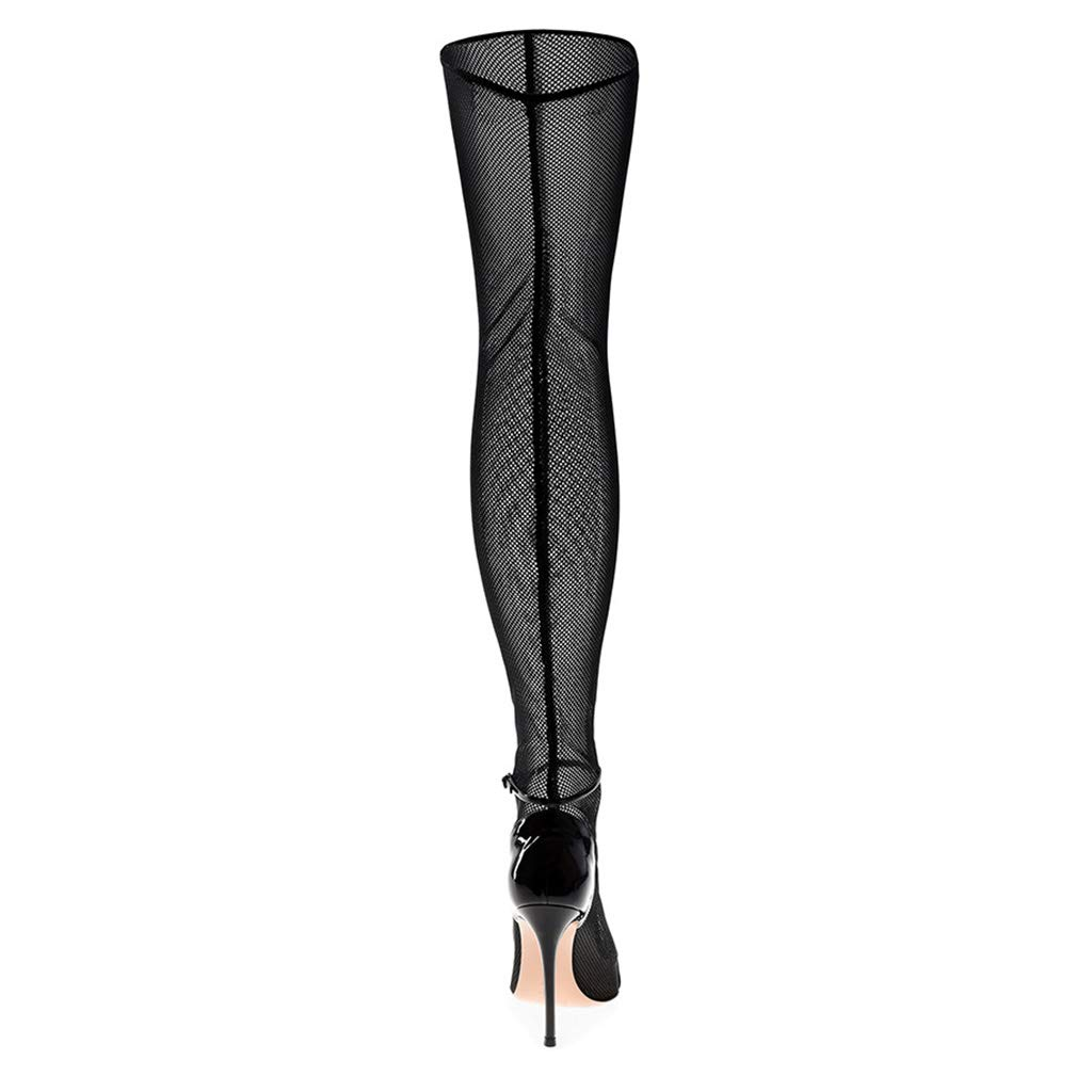 Heel Height: 8cm Banquet Party Shoes BHM High Heels Ladies Bud Silk Gauze Over The Knee Boots