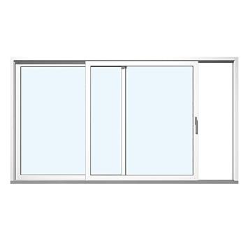 Super Hebe Schiebetür Terrassentür Kunststoff PVC Weiß Glas:3-Fach, BxH AC35