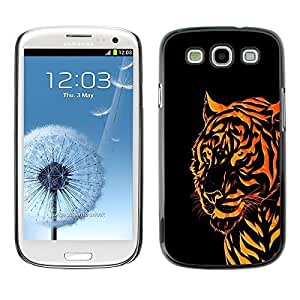 GagaDesign Phone Accessories: Hard Case Cover for Samsung Galaxy S3 - Orange Tribal Tiger