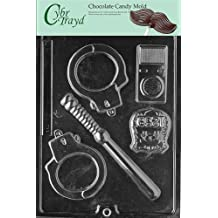 Cybrtrayd J078 Policeman Set Chocolate Candy Mold with Exclusive Copyrighted Molding Instructions