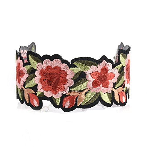 Vintage Flower Choker Lace Nek