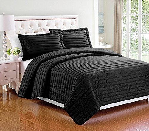 3 pieces Solid Color Quilt Bedspread Coverlet Set with Pillow shams : solid color quilted pillow shams - Adamdwight.com