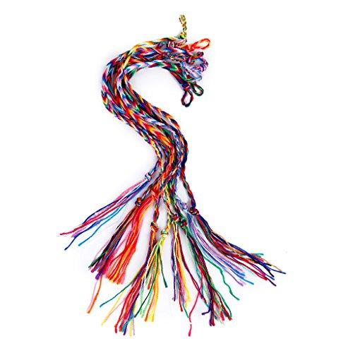 9pcs Braided Woven Threaded Friendship Bracelets Ankle Bracelet Party Favor (Braided Friendship Bracelet)