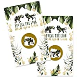 Tropical Jungle Scratch Off Games (30 Pack) Perfect for Baby Shower, Birthday Party, Any Occasion Green and Gold