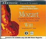 "Mozart Symphony No.34 in C, K338 Six German Dances; Witt ""Jena"" Symphony, K600"