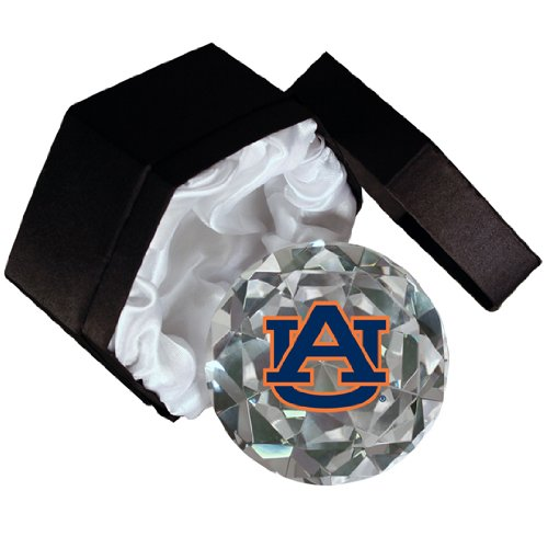 - NCAA Auburn Tigers Logo 4-Inch High Brillance Diamond Cut Crystal Paperweight