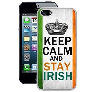 Ireland Flag Keep Calm and Stay Irish iPhone 5/5s Case (White)
